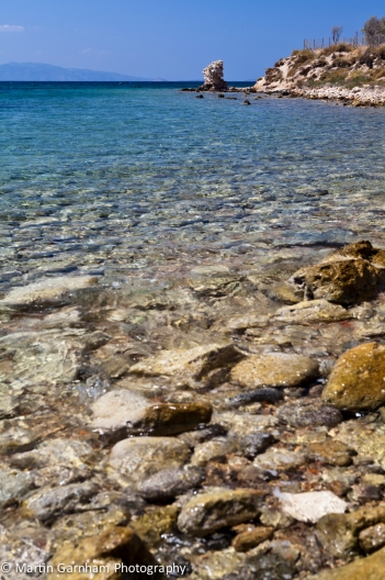 The Rocky shoreline of Aegina Town
