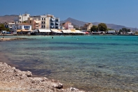 The beach of Aegina Town