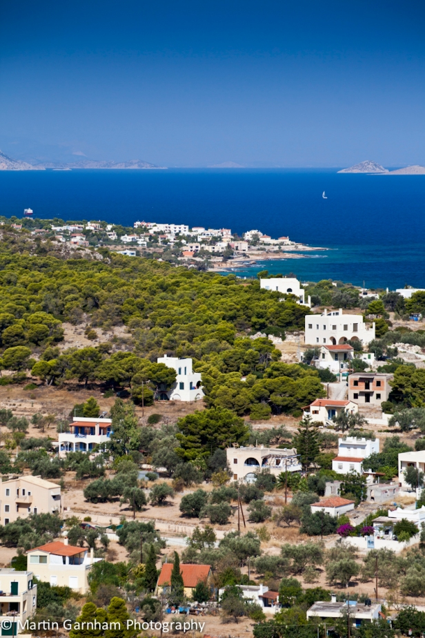The coastal town of Vagia