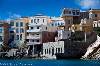 The port town of Ermoupolis