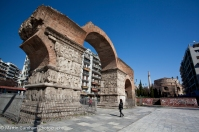 The Arch of Galerius and the Rotunda.
