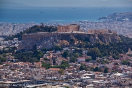 The Acropolis of Athens in the city of Athens, Greece.