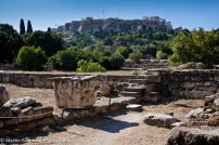 The ruins of The Ancient Agora of Athens, Greece.