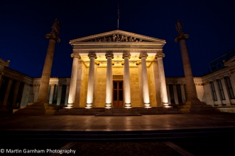 The Athens Academy in the city of Athens, Greece.