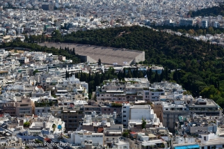 The Panathenaic Stadium in Athens, Greece.