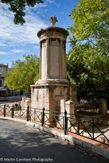 The Choragic Monument of Lysicrates in athens, Greece