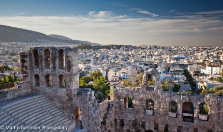 Odeon of Herodes Atticus amphitheater in Athens, Greece.
