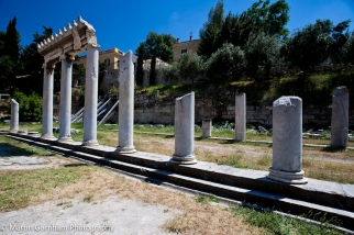 The Roman Agora in Athens, Greece.