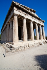 The Temple of Hephaestus in The Agora of Athens in Athens, Greece.