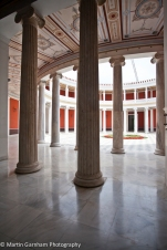 The interior of the Zappeion Hall in Athens, Greece.